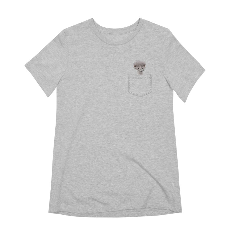 Ostrich in my Pocket Women's Extra Soft T-Shirt by FashionedbyNature's Artist Shop