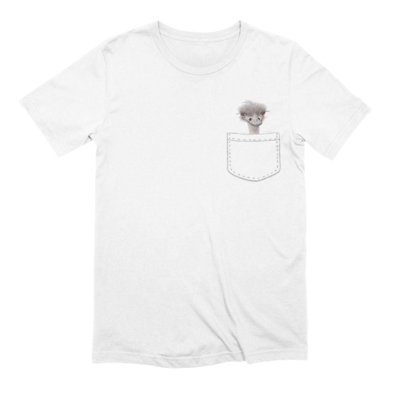 Ostrich in my Pocket Men's Extra Soft T-Shirt by FashionedbyNature's Artist Shop
