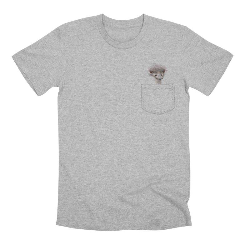 Ostrich in my Pocket Men's Premium T-Shirt by FashionedbyNature's Artist Shop