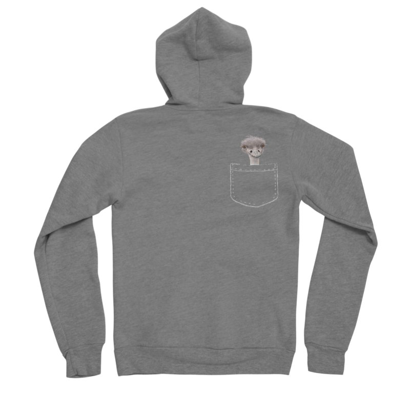 Ostrich in my Pocket Women's Zip-Up Hoody by All Fashioned by Nature Artist Shop