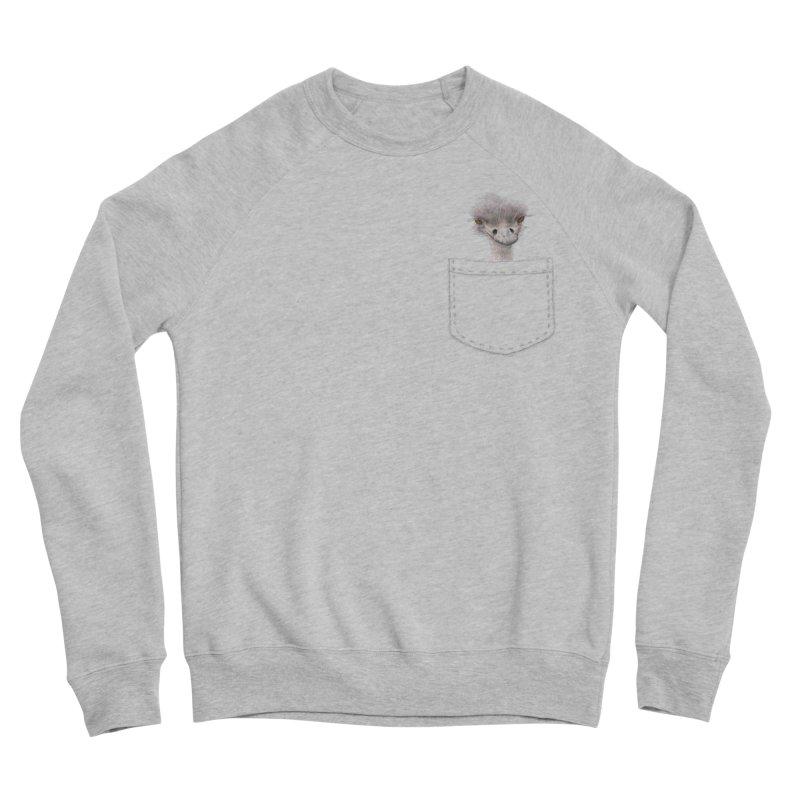 Ostrich in my Pocket Men's Sponge Fleece Sweatshirt by FashionedbyNature's Artist Shop