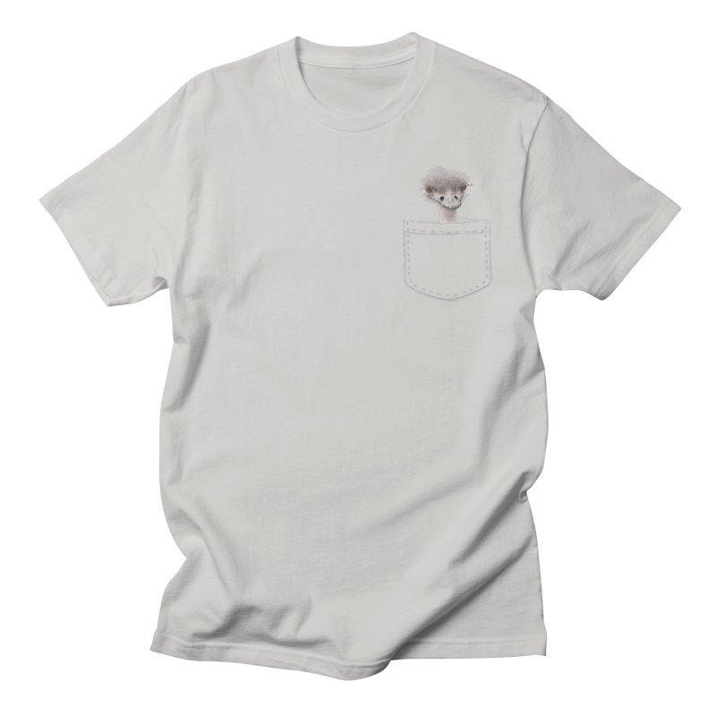 Ostrich in my Pocket Men's T-Shirt by FashionedbyNature's Artist Shop