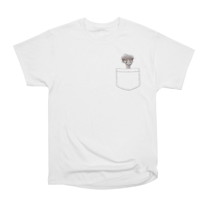 Ostrich in my Pocket Men's Heavyweight T-Shirt by FashionedbyNature's Artist Shop