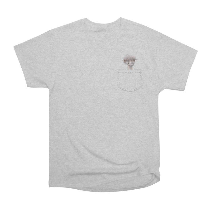 Ostrich in my Pocket Women's Heavyweight Unisex T-Shirt by FashionedbyNature's Artist Shop