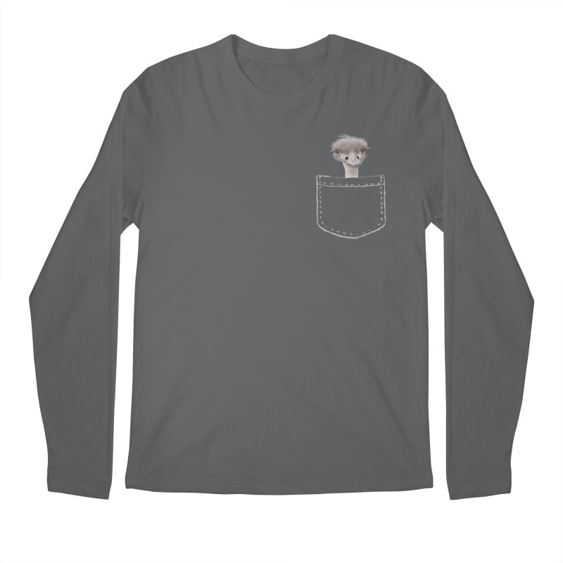 Ostrich in my Pocket Men's Longsleeve T-Shirt by All Fashioned by Nature Artist Shop