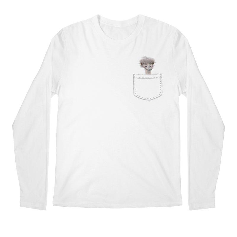 Ostrich in my Pocket Men's Regular Longsleeve T-Shirt by FashionedbyNature's Artist Shop