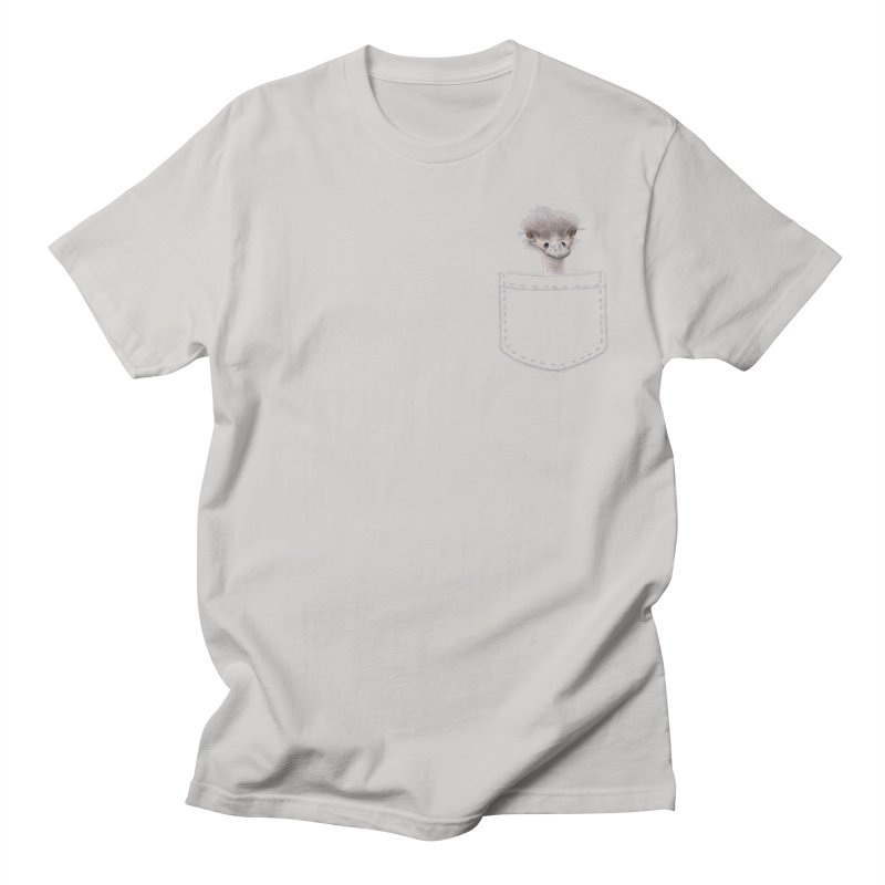 Ostrich in my Pocket Men's T-Shirt by All Fashioned by Nature Artist Shop