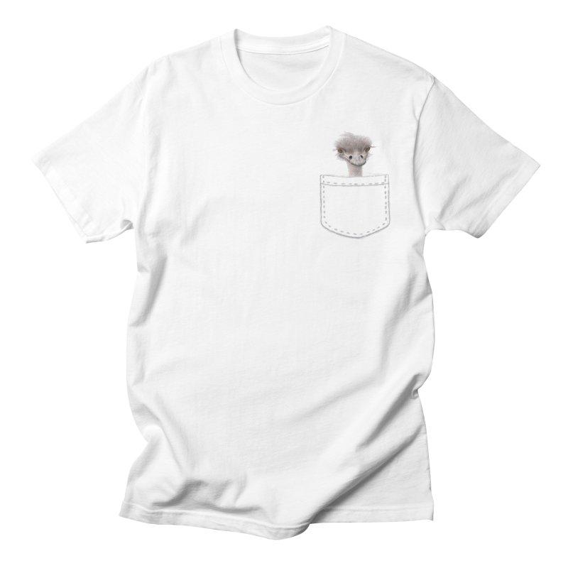 Ostrich in my Pocket Men's Regular T-Shirt by FashionedbyNature's Artist Shop
