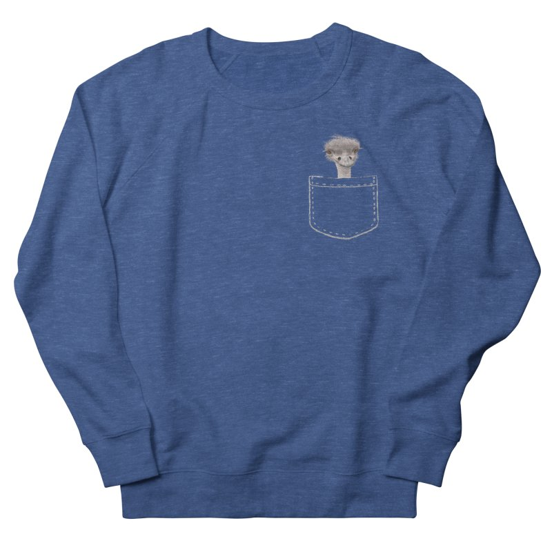 Ostrich in my Pocket Men's Sweatshirt by All Fashioned by Nature Artist Shop