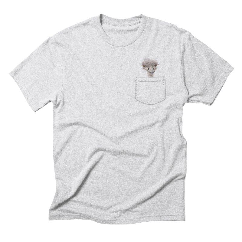 Ostrich in my Pocket Men's Triblend T-Shirt by FashionedbyNature's Artist Shop