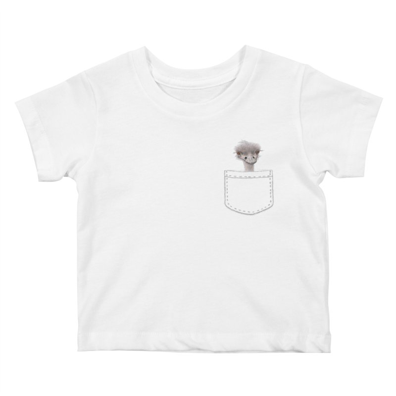 Ostrich in my Pocket Kids Baby T-Shirt by FashionedbyNature's Artist Shop