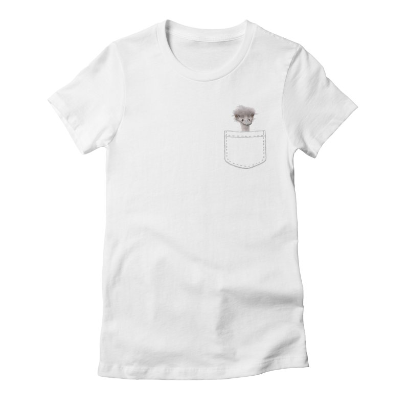 Ostrich in my Pocket Women's T-Shirt by All Fashioned by Nature Artist Shop