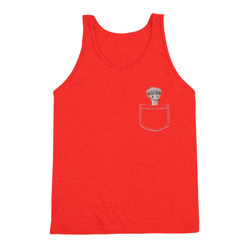 Ostrich in my Pocket Men's Tank by All Fashioned by Nature Artist Shop