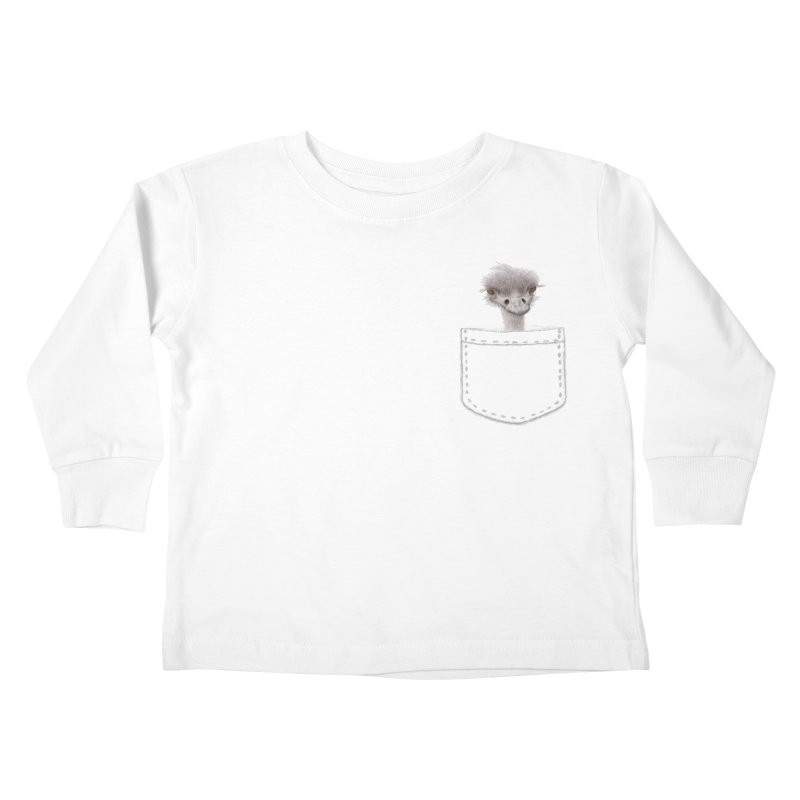Ostrich in my Pocket Kids Toddler Longsleeve T-Shirt by FashionedbyNature's Artist Shop
