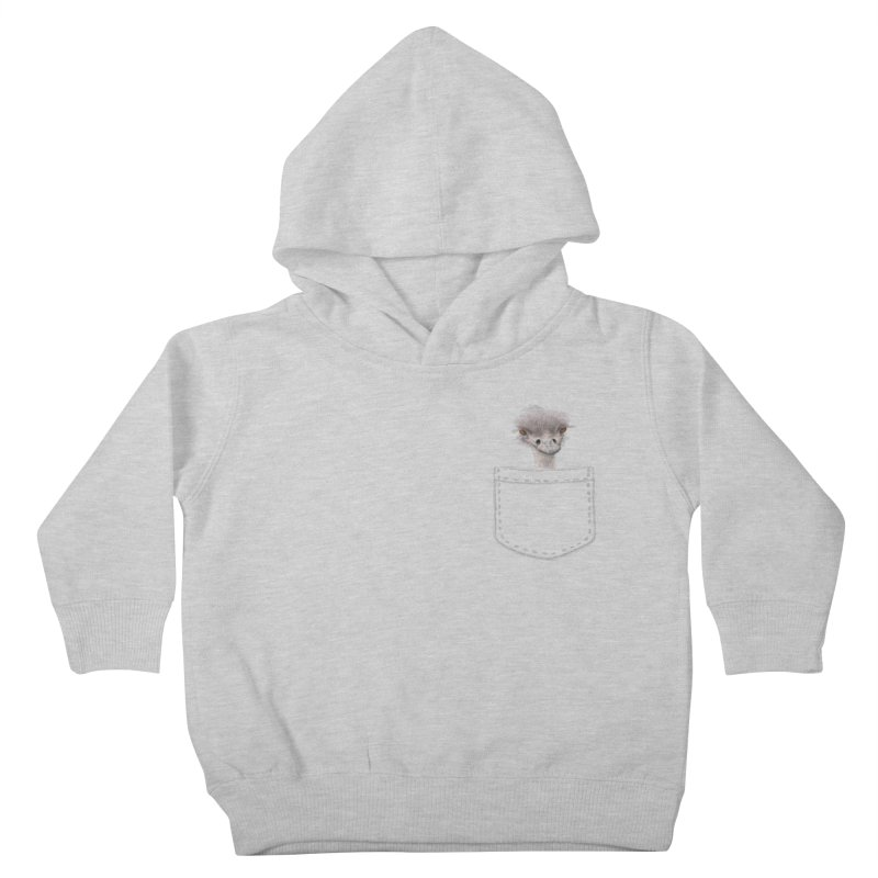 Ostrich in my Pocket Kids Toddler Pullover Hoody by FashionedbyNature's Artist Shop