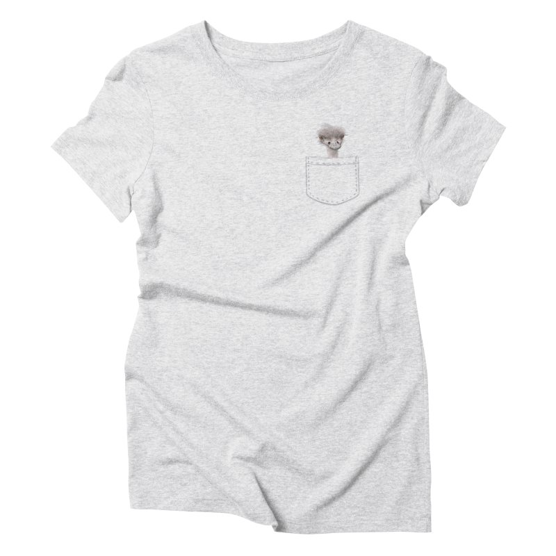 Ostrich in my Pocket Women's Triblend T-Shirt by FashionedbyNature's Artist Shop