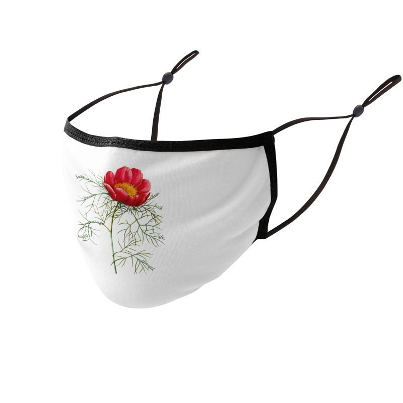 Inspirational Peony Accessories Face Mask by All Fashioned by Nature Artist Shop