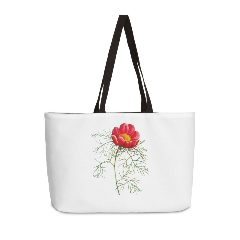 Inspirational Peony Accessories Weekender Bag Bag by FashionedbyNature's Artist Shop