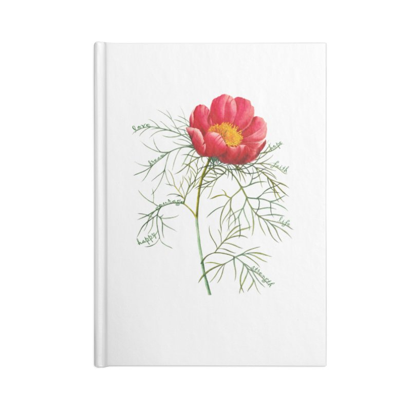 Inspirational Peony Accessories Lined Journal Notebook by FashionedbyNature's Artist Shop