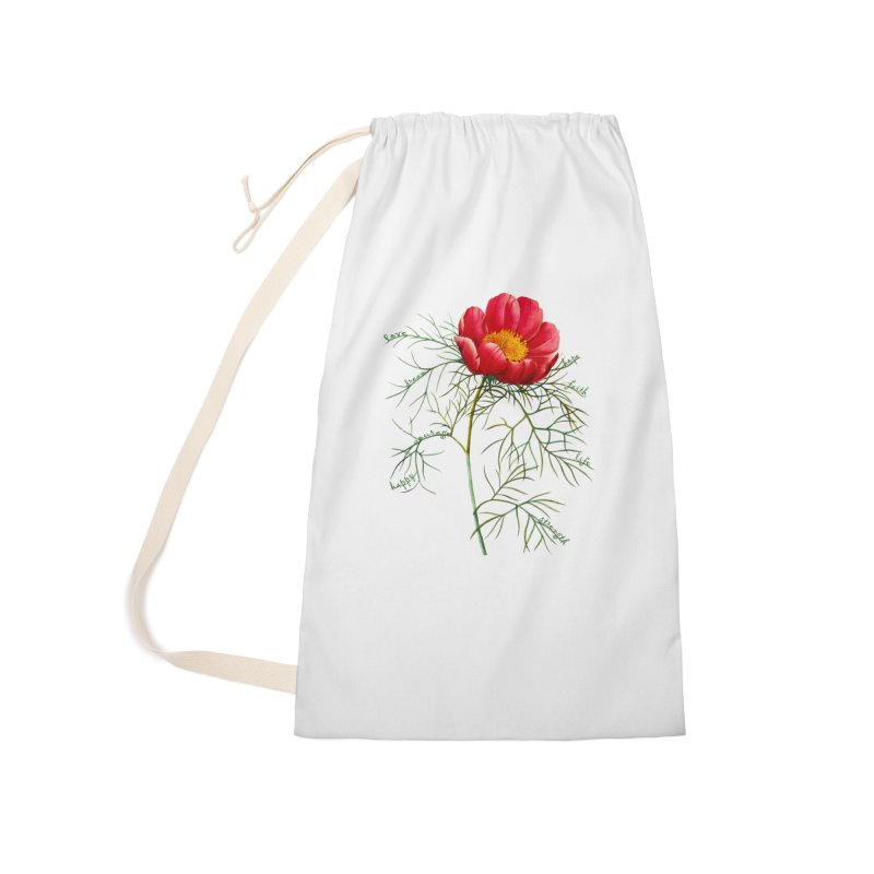 Inspirational Peony Accessories Bag by All Fashioned by Nature Artist Shop