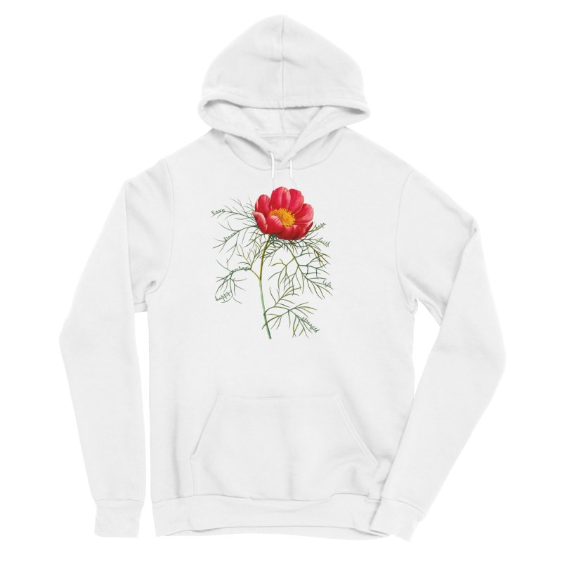 Inspirational Peony Women's Pullover Hoody by FashionedbyNature's Artist Shop