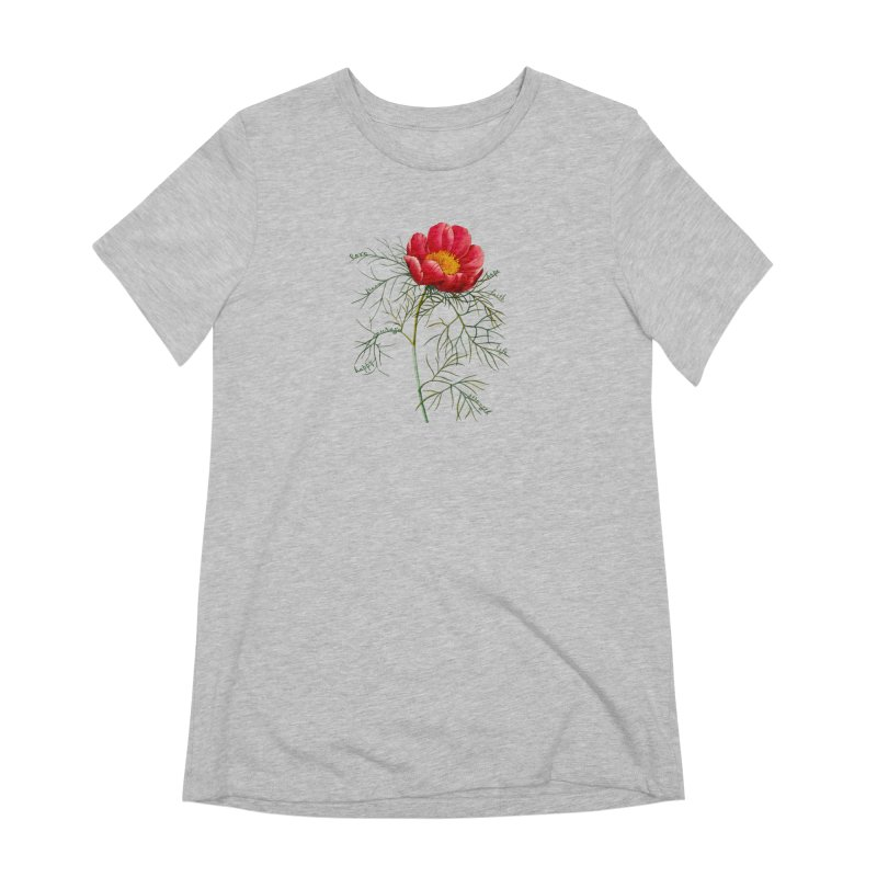 Inspirational Peony Women's Extra Soft T-Shirt by FashionedbyNature's Artist Shop