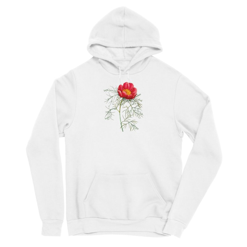 Inspirational Peony Women's Pullover Hoody by All Fashioned by Nature Artist Shop