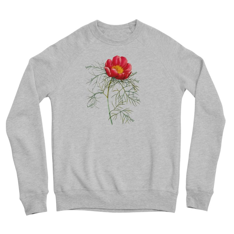 Inspirational Peony Women's Sweatshirt by All Fashioned by Nature Artist Shop
