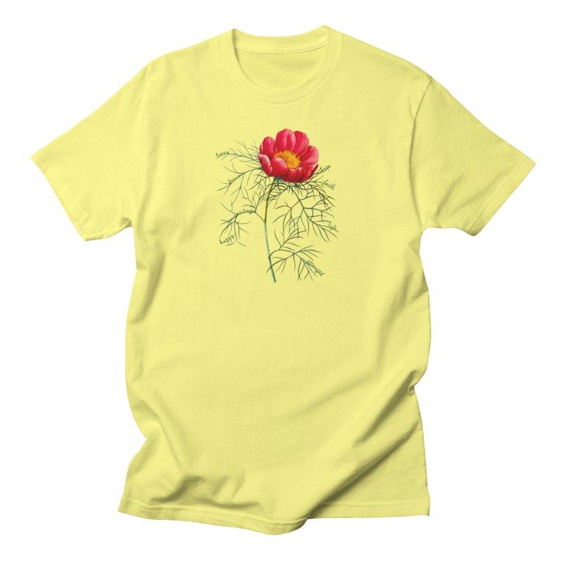 Inspirational Peony Women's T-Shirt by FashionedbyNature's Artist Shop