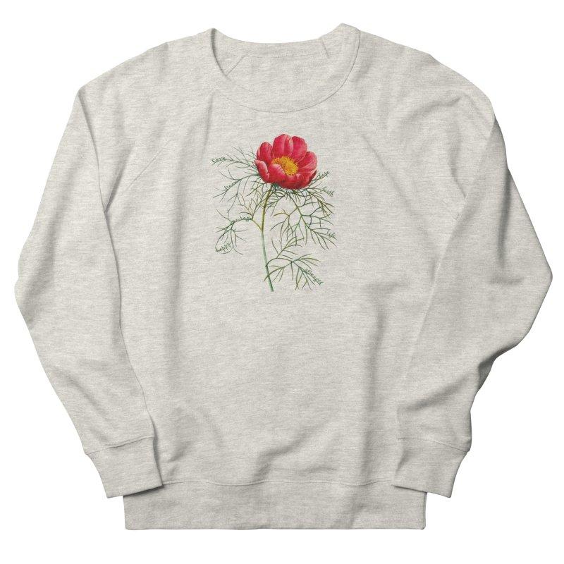Inspirational Peony Women's Sweatshirt by FashionedbyNature's Artist Shop