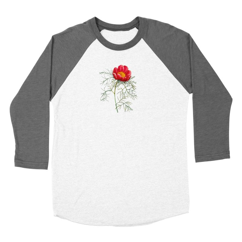 Inspirational Peony Women's Longsleeve T-Shirt by All Fashioned by Nature Artist Shop
