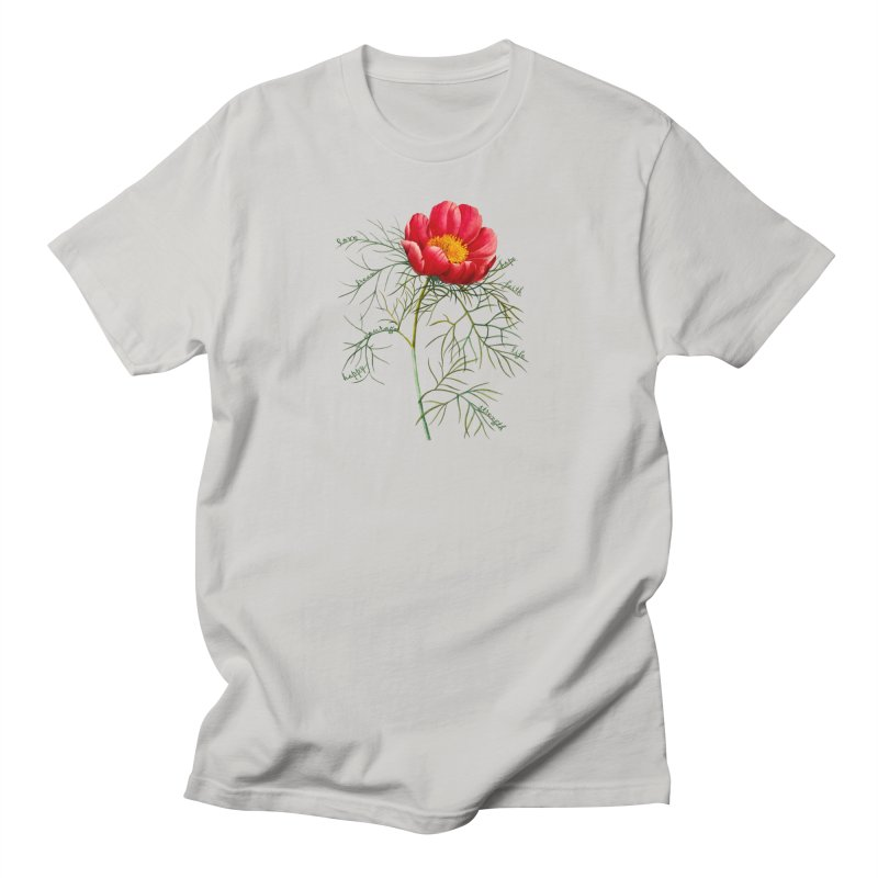 Inspirational Peony Women's Regular Unisex T-Shirt by FashionedbyNature's Artist Shop