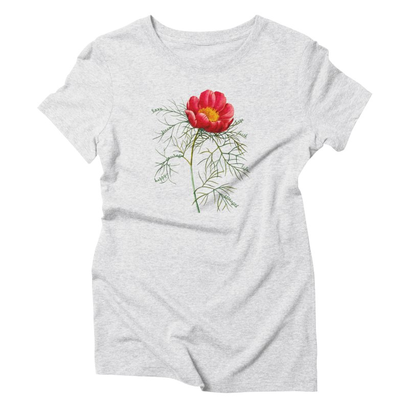 Inspirational Peony Women's Triblend T-Shirt by FashionedbyNature's Artist Shop