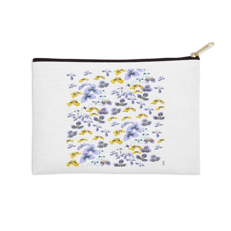 Moraea Flower Accessories Zip Pouch by FashionedbyNature's Artist Shop