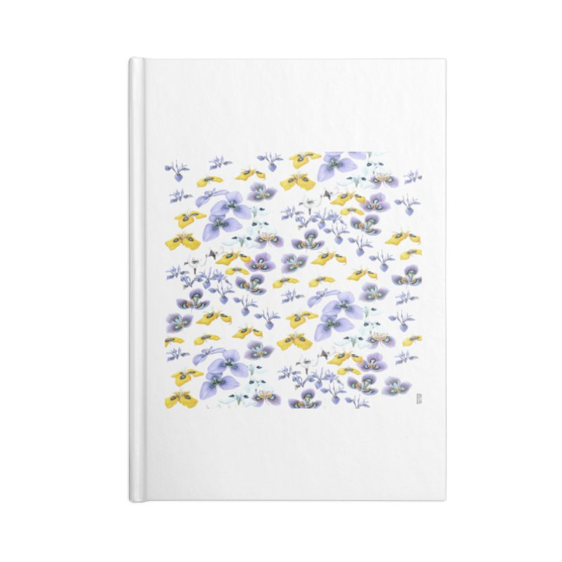 Moraea Flower Accessories Blank Journal Notebook by FashionedbyNature's Artist Shop