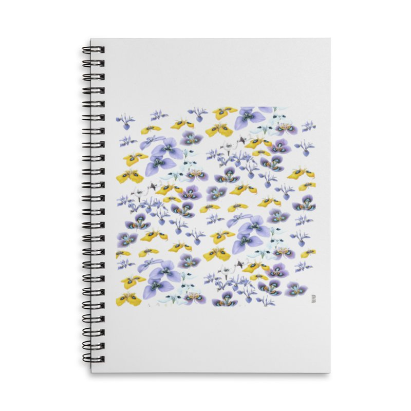 Moraea Flower Accessories Lined Spiral Notebook by FashionedbyNature's Artist Shop