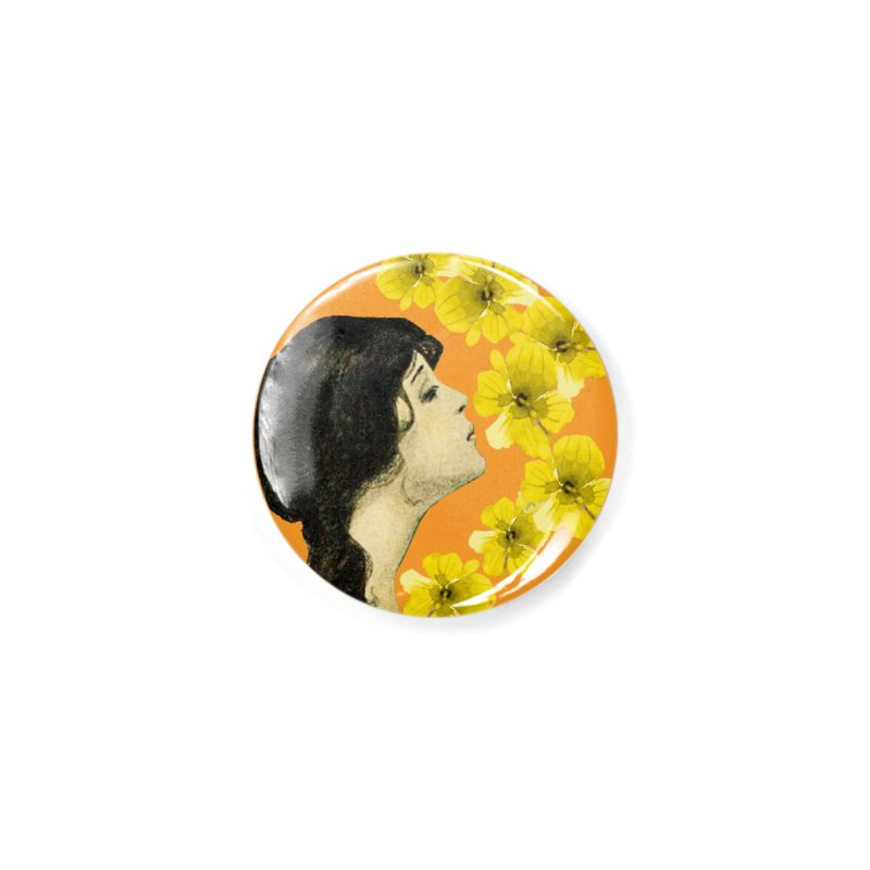 Monet Flower Lady Accessories Button by FashionedbyNature's Artist Shop