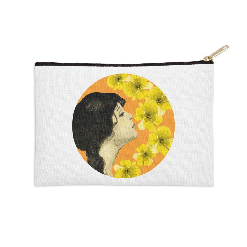 Monet Flower Lady Accessories Zip Pouch by All Fashioned by Nature Artist Shop