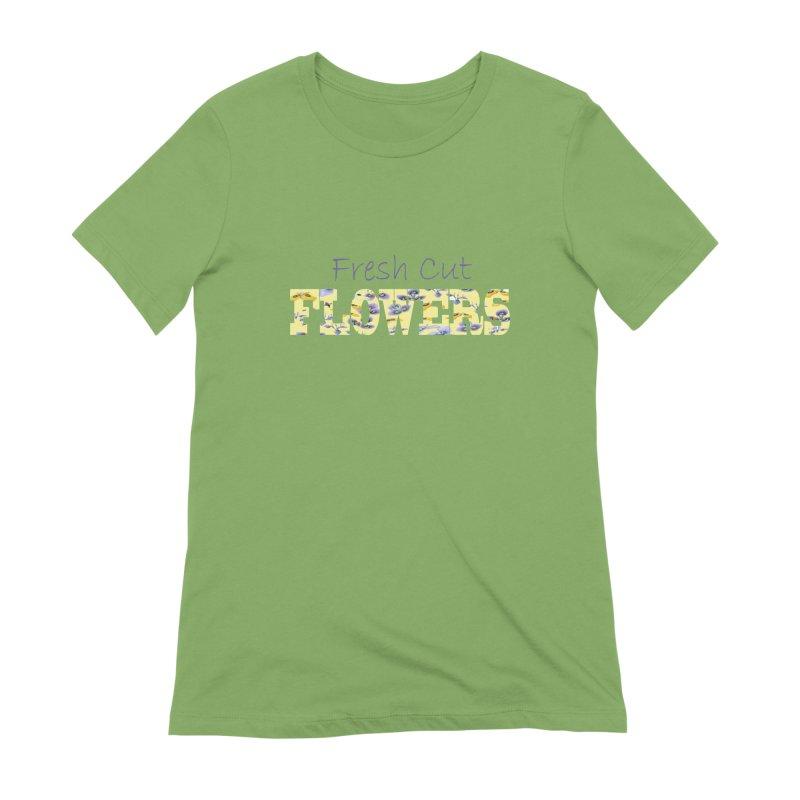 Fresh Cut Flowers Women's Extra Soft T-Shirt by FashionedbyNature's Artist Shop
