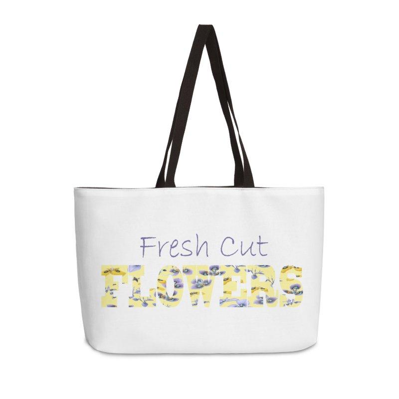 Fresh Cut Flowers Accessories Weekender Bag Bag by FashionedbyNature's Artist Shop