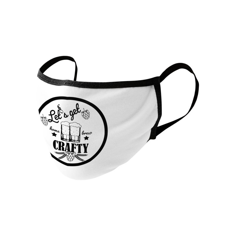 Let's Get Crafty Craft Beer Accessories Face Mask by All Fashioned by Nature Artist Shop
