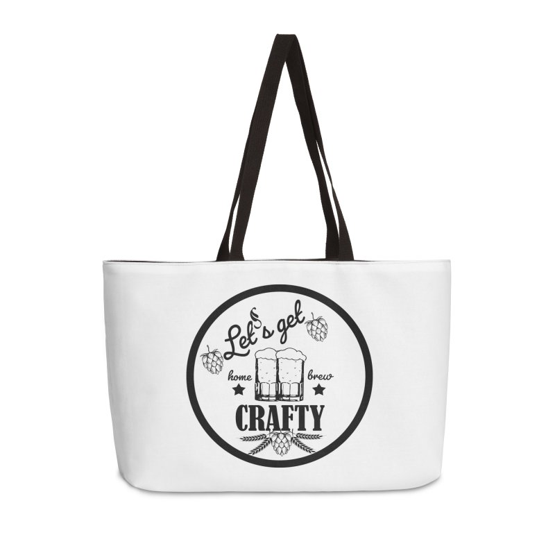 Let's Get Crafty Craft Beer Accessories Weekender Bag Bag by FashionedbyNature's Artist Shop
