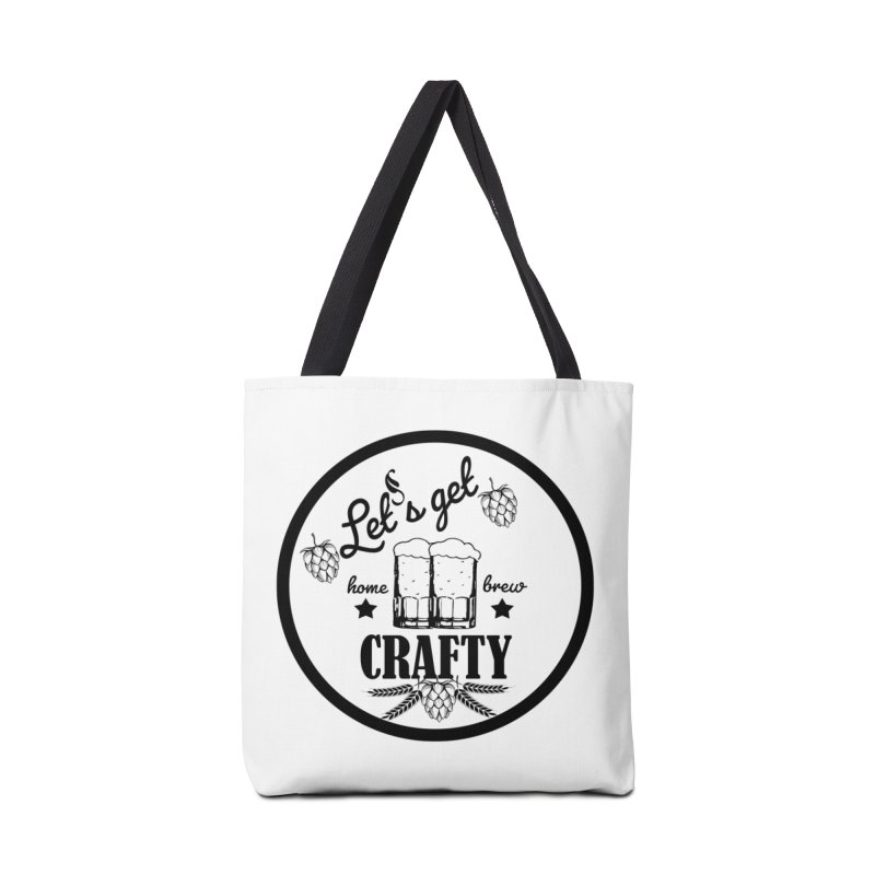 Let's Get Crafty Craft Beer Accessories Tote Bag Bag by FashionedbyNature's Artist Shop