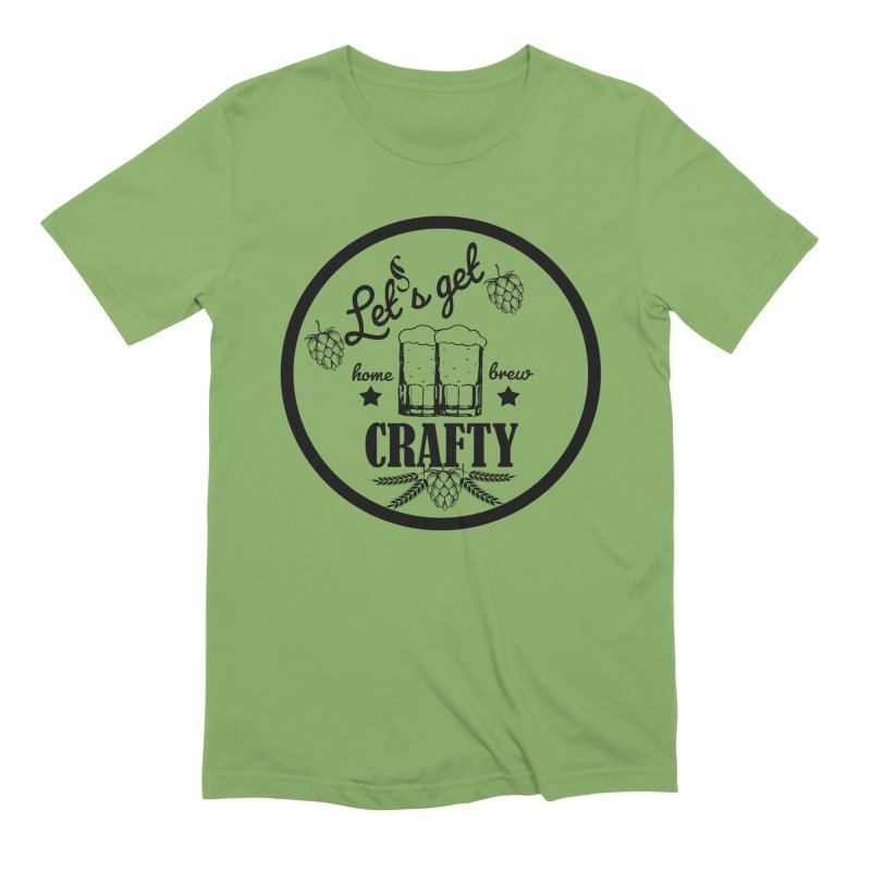 Let's Get Crafty Craft Beer Men's Extra Soft T-Shirt by FashionedbyNature's Artist Shop
