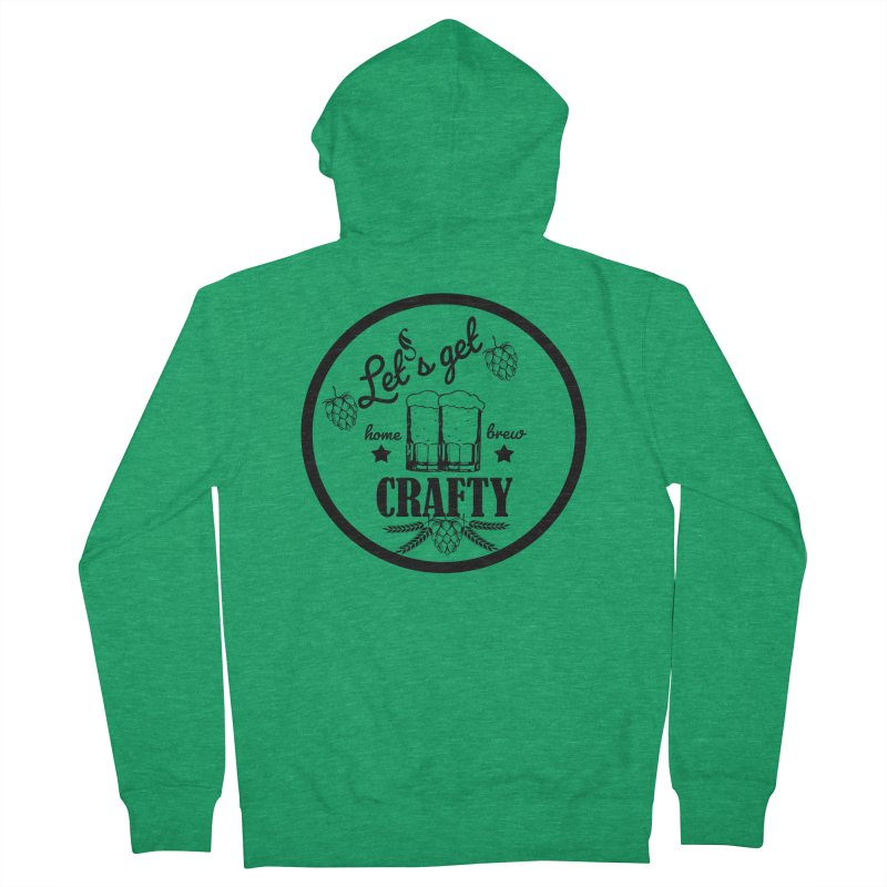 Let's Get Crafty Craft Beer Men's Zip-Up Hoody by All Fashioned by Nature Artist Shop