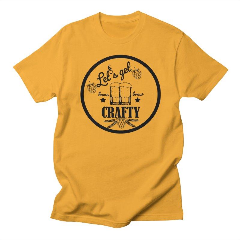 Let's Get Crafty Craft Beer Men's Regular T-Shirt by FashionedbyNature's Artist Shop