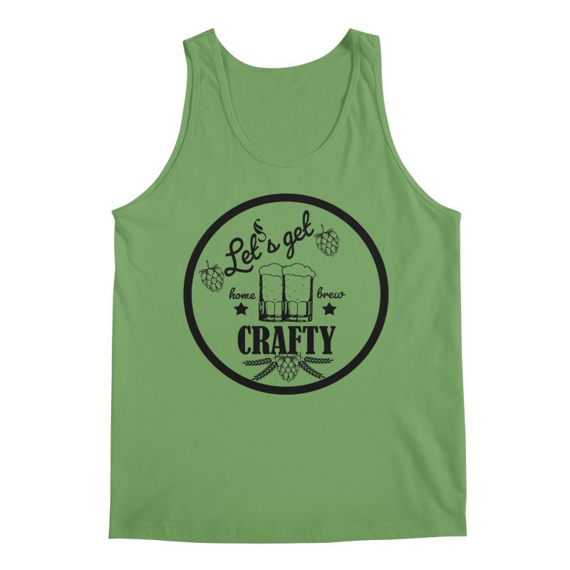 Let's Get Crafty Craft Beer Men's Tank by All Fashioned by Nature Artist Shop