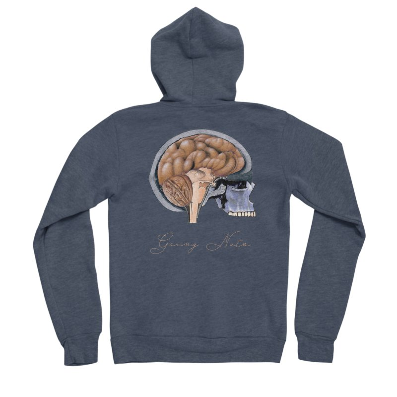 Going Nuts Women's Zip-Up Hoody by All Fashioned by Nature Artist Shop