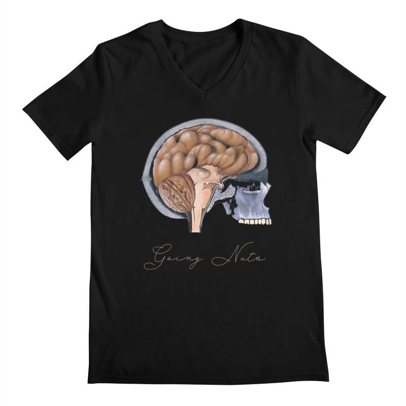 Going Nuts Men's V-Neck by All Fashioned by Nature Artist Shop