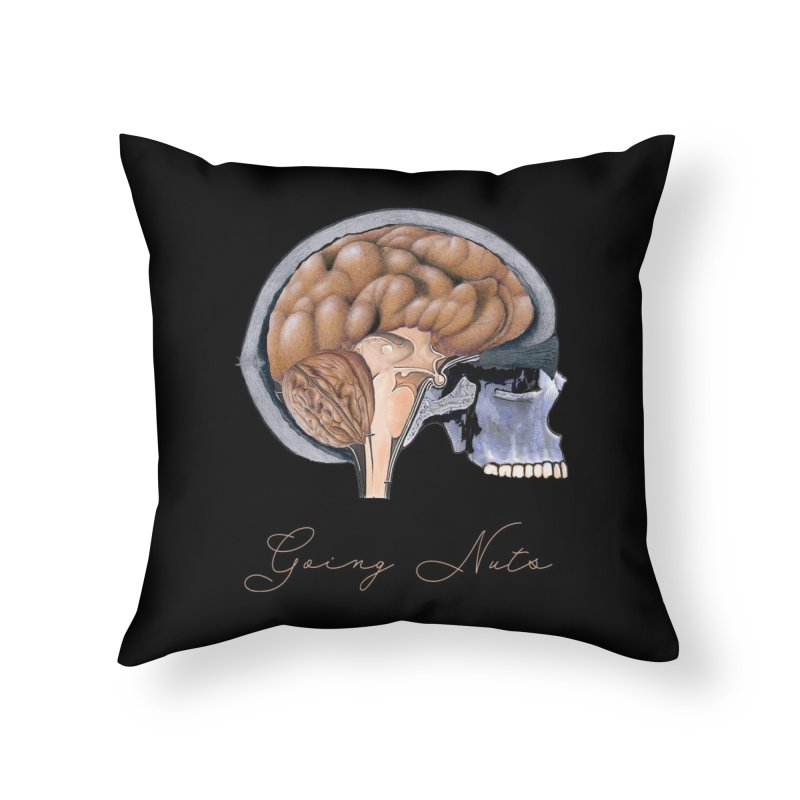 Going Nuts Home Throw Pillow by All Fashioned by Nature Artist Shop
